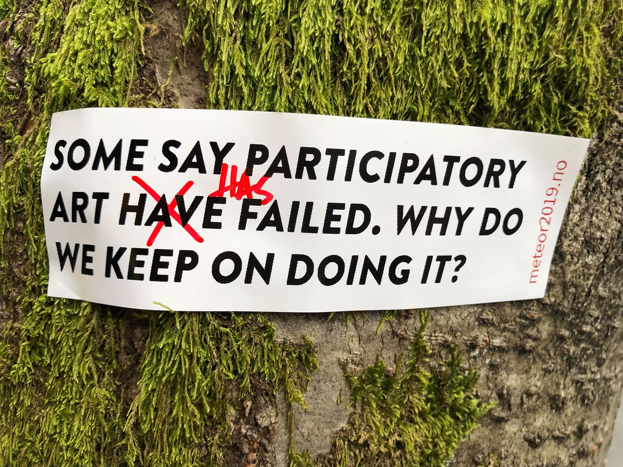 SOME SAY PARTICIPATORY ART HAS FAILED. WHY DO WE KEEP ON DOING IT?