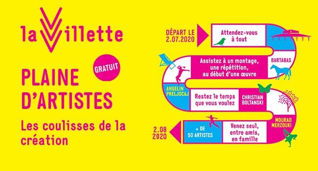 LA VILLETTE: PLAINE D'ARTISTES